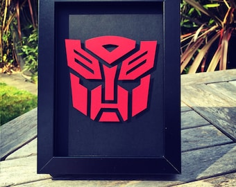 Autobot Logo - Framed 3D Cutout
