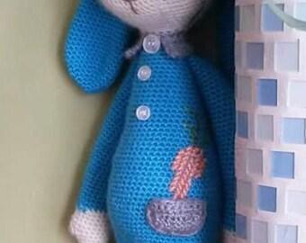 Handmade Lalylala doll crochet rabbit