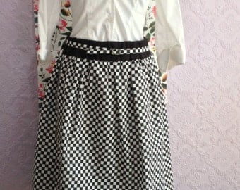Mod Skirt in Black and White Checkerboard