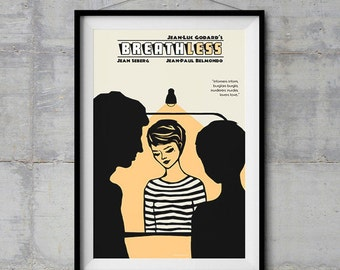 Breathless Alternative Movie Poster - Original Illustration