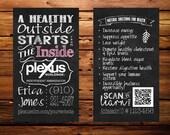 Plexus business card (chalkboard style with QR code)