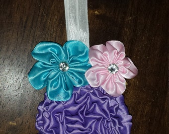 Newborn Silk Flower Headband