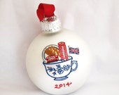 Custom British-themed Ornament,  Pick a theme (add up to 5 items!)