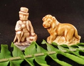 Dr Doolittle and the Lion - Vintage Porcelain Miniatures