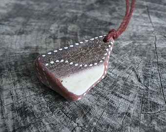 Beach Pottery Necklace - Dots