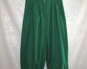 Kelly Green Corduroy Knickers Size Small Vintage 70s