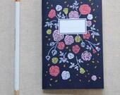 Mini Journal, Booklet, Jotter, Pocket Notebook - Vintage Rose