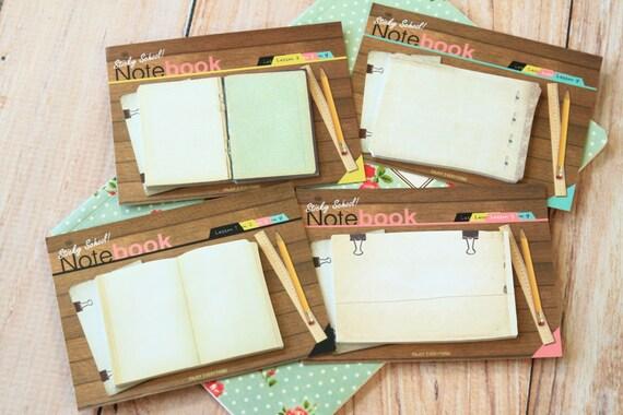 Sticky School Notebook Sticker Notes