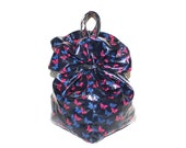 BOTTEGA VENETA Vintage Hobo Blue Shiny Butterfly Bucket Bag - AUTHENTIC -