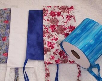 Toilet Tissue Holder Handmade, Toilet Paper Hanger,  Bath TP Holder, Fabric Toilet Paper Holder, Storage Solution  for Toilet Paper,  Gift