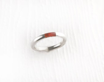 Simplistic Carnelian Sterling Silver Ring