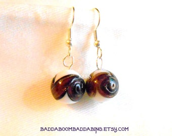 Purple Swirl Shimmer Earrings