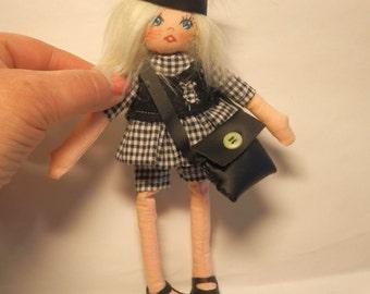 "PDF Instant Download-Art Doll Pattern Cloth Doll Pdf  DIY "" Doll Caroline "" sewing doll   free shipping"