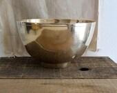 large vintage brass pedestal bowl