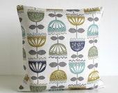 Floral Pillow Cover, Throw Pillows, 16x16 Cushion Cover, Accent Pillows, 16 Inch Pillow Sham, Pillow Covers, Pillowcase - Kalmia Chartreuse