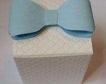 Custom Colors: 3-D Bowtie Favor Boxes (Set of 10)