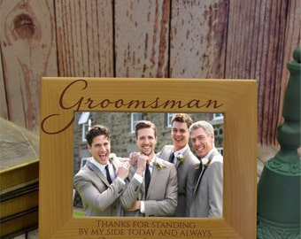 Personalized Groomsman Frame, Best Man Frame, Wood Picture Frame, Wedding Attendant Gift, 4x6 frame, 5x7 wedding attendant gift FR0406