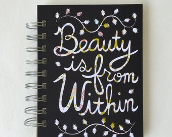 Beauty is from Within Found Paper Book