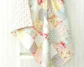 White Washed Cottage Baby Quilt - Crib Quilt - Small Lap Quilt - READY TO SHIP