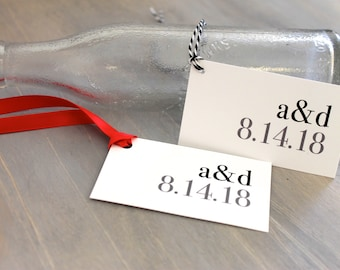 "Modern Wedding Favor Tags, Simple and Elegant - ""Urban Elegance"" Stationery Deposit"