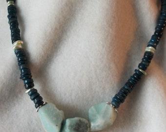 Chunky Amazonite Heishi Necklace