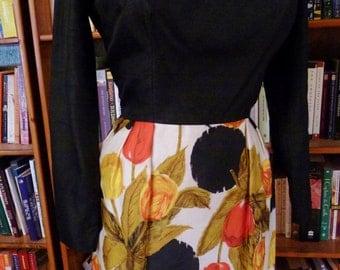 LILLI ANN- Amazing Silk 1950s Joan Holloway Wiggle Dress-M,L
