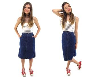 Vintage 80s Calvin Klein Denim Skirt, Jean Skirt, Knee Length Skirt, Pencil Denim Skirt, High-Waist Denim Skirt Δ size: sm / md