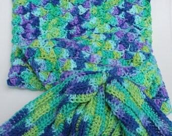 Mermaid Tail Blanket - Handmade Crochet