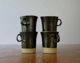 Vintage Martz Pottery / Marshall Studios Demitasse Cups