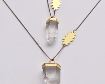 FOREVER GRATEFUL GDF  // Phantom Quartz Wand & 13 Point Lightening Bolt Necklace