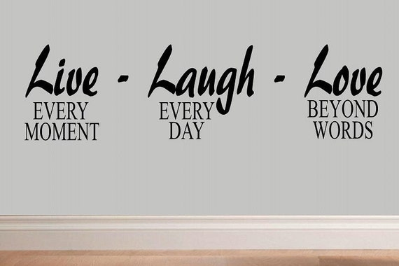 Beyond Words Customizable Wall Decor Kohls : Live every moment laugh day love beyond words wall