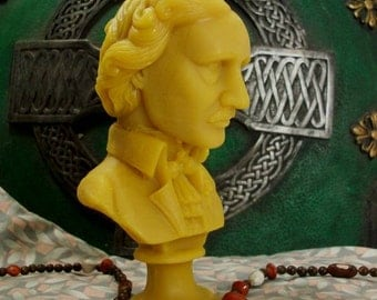 Edgar Allan Poe Bust Beeswax Candle Composer Series
