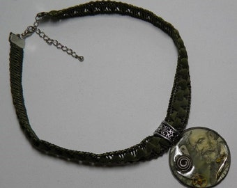 Steampunk Jules Verne Glow-In-The-Dark Choker