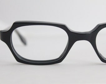 Vintage 50's Angular Black Cat Eyeglass Frames