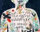 The entire universe is inside you