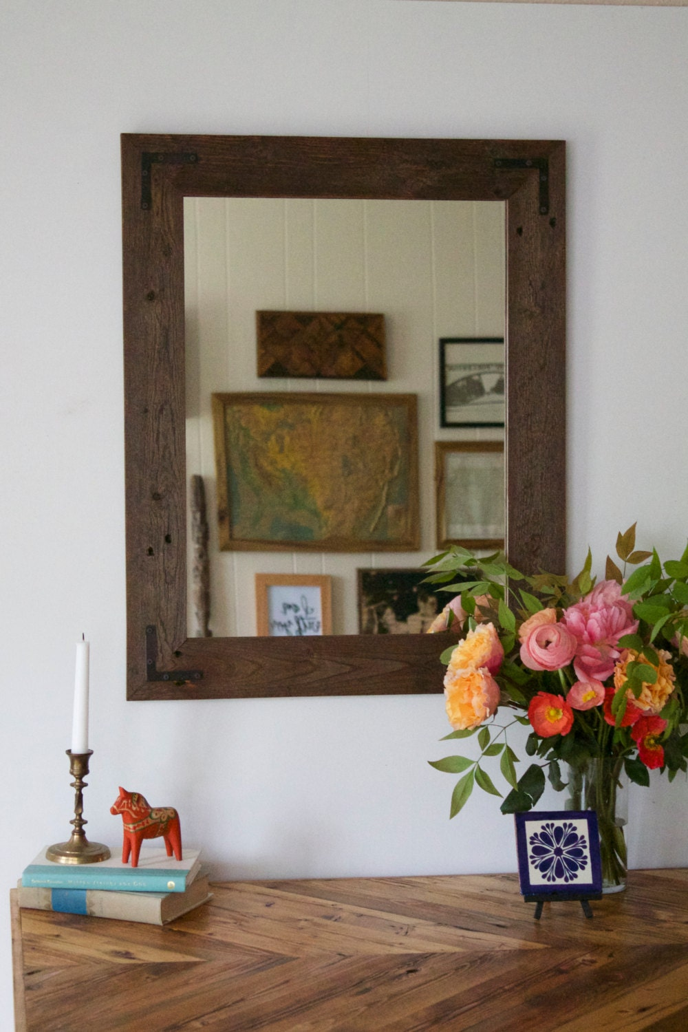rustic wall mirror images