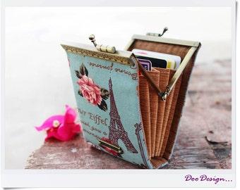 Business card holder Eiffel Tower / Credit card case / Credit card organizer / Fold card case