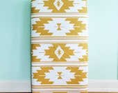 Crib Sheet Gold Kilim. Fitted Crib Sheet. Baby Bedding. Crib Bedding. Minky Crib Sheet. Crib Sheets. Aztec Crib Sheet. Gold Crib Sheet.