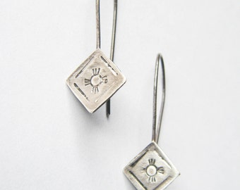 SALE Four Directions // Sterling Silver Earrings