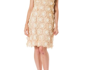 1960s Swiss Embroidered Lace Dress  Size: S-M