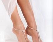 Stardust Barefoot sandals Bridal foot jewelry Rhinestone Beach wedding Barefoot Sandals Bridal barefoot sandal Beaded Barefoot Sandals Shoes