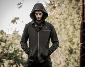 Apophis hoody - Mens hoody - Punk jacket - Festival jacket - Doof hoody
