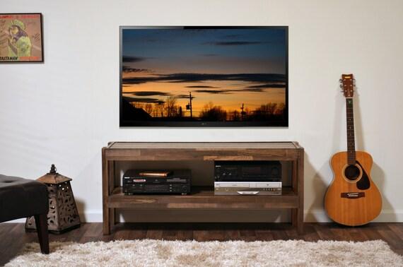 Meuble Tv Jacob Grange : Repurposed Bois Meuble Tv – Palette Bois & Grange Bois Style Media