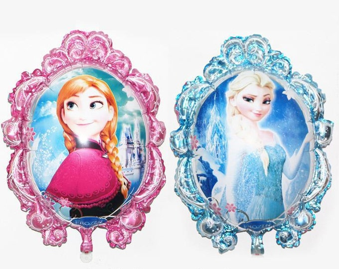 SALE 6 pc Frozen Mylar Balloon - Two-Sided Balloon Princess Anna and Queen Elsa / Disney Frozen Party
