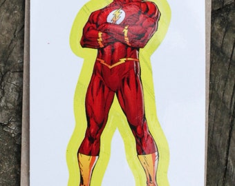 DC Comics Justice League Of America THE FLASH Sticker, Comic Book, Superheroes, Collectible, Scrapbooking, Stickers