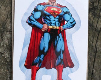 DC Comics Justice League Of America SUPERMAN Sticker, Comic Book, Superheroes, Collectible, Scrapbooking, Stickers, Free Shipping!