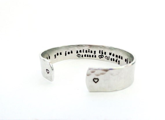 Mother of the Bride Gift   Wedding Gift   Mother-In Law Gift  Thank you for raising the woman... Custom Stamped Bracelet By Timeless Maiden