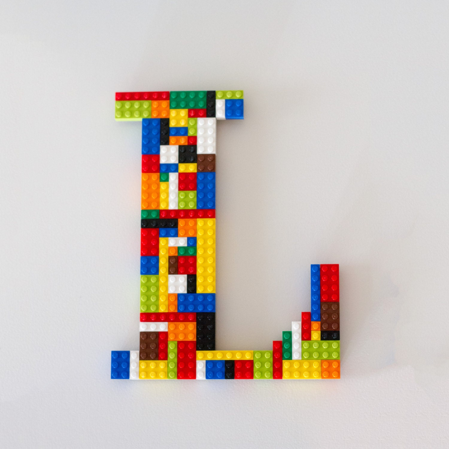 Monogram Wall Letter 10 Made With LEGO® Bricks