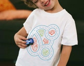 3T, Car Play Mat Shirt, Kids Christmas Gift, Race Car Shirt, Toddler Boy Shirt, Car Birthday Shirt, Race Car Party, Educational Gift