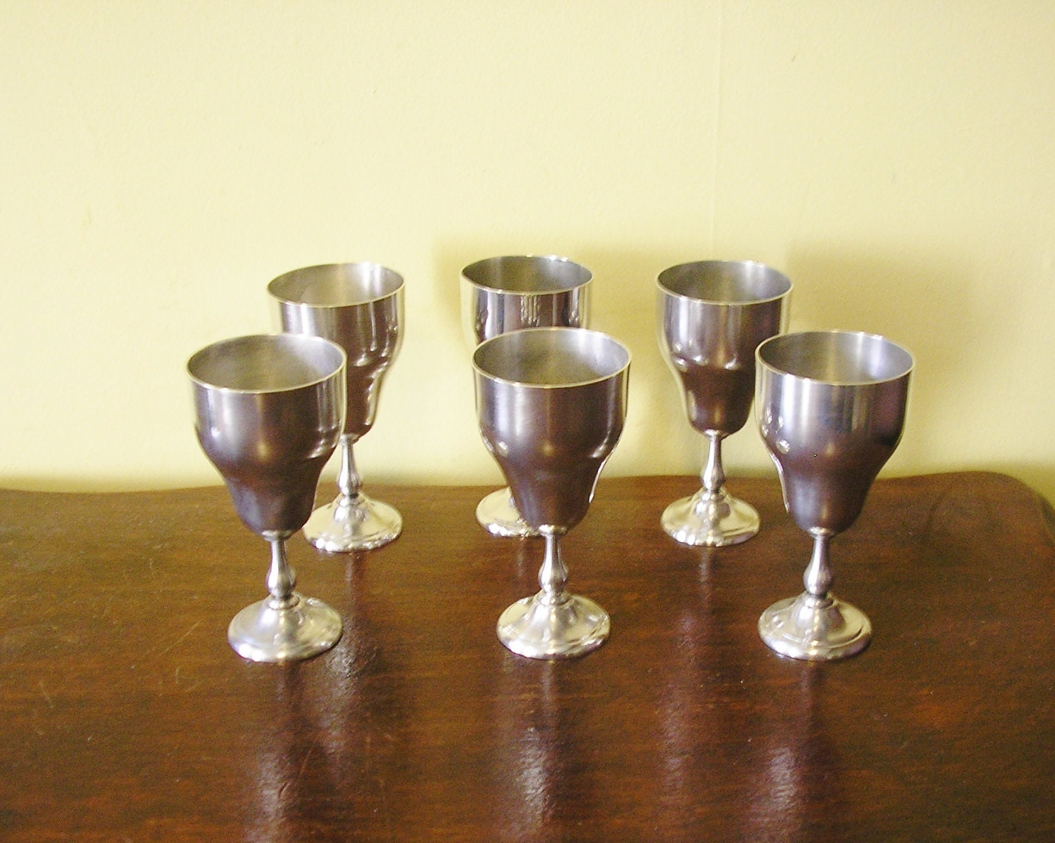 Vintage Angora Silver Plate Goblets Set Of 6 By